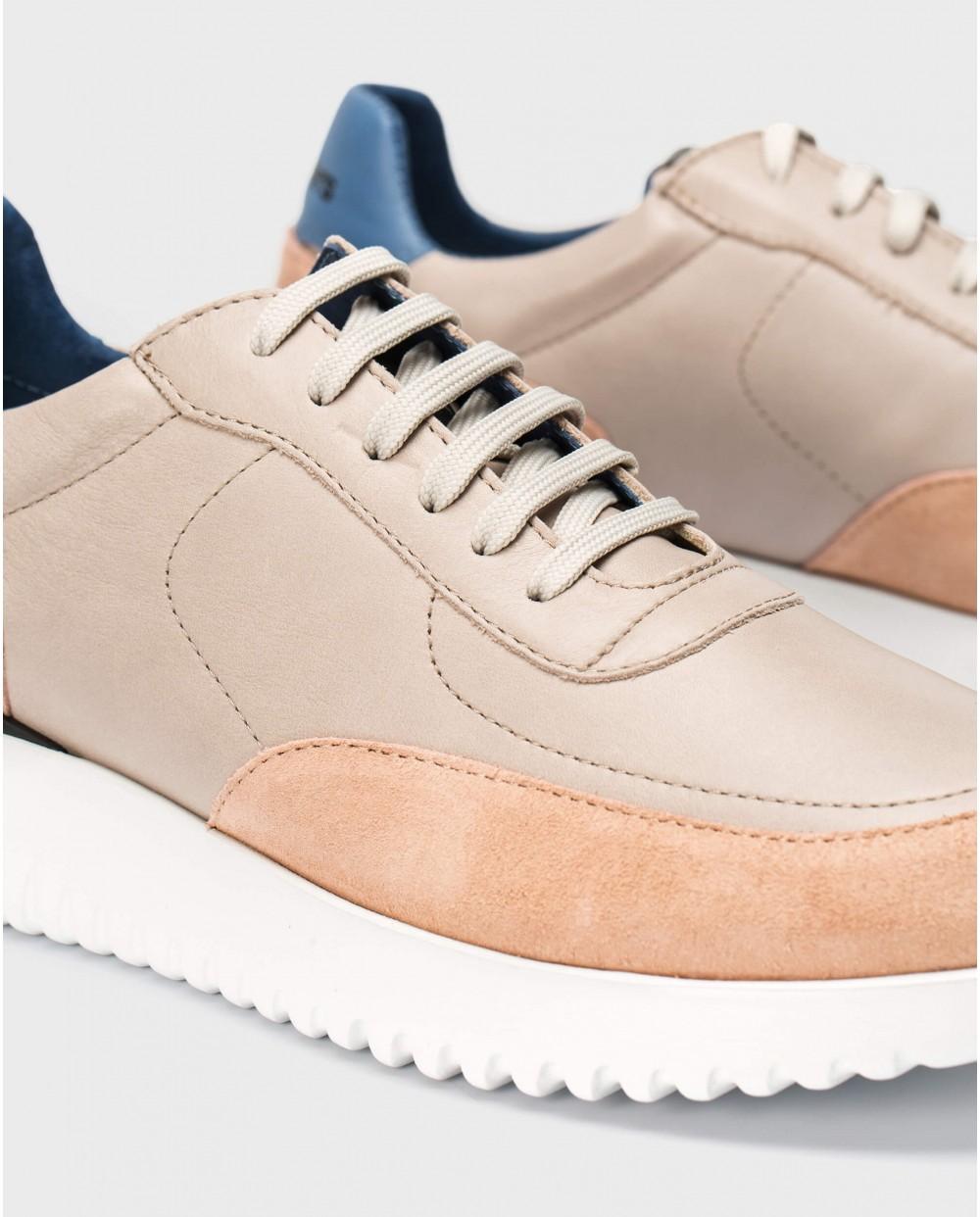 Wonders-Sneakers-Leather sneaker with shoelaces