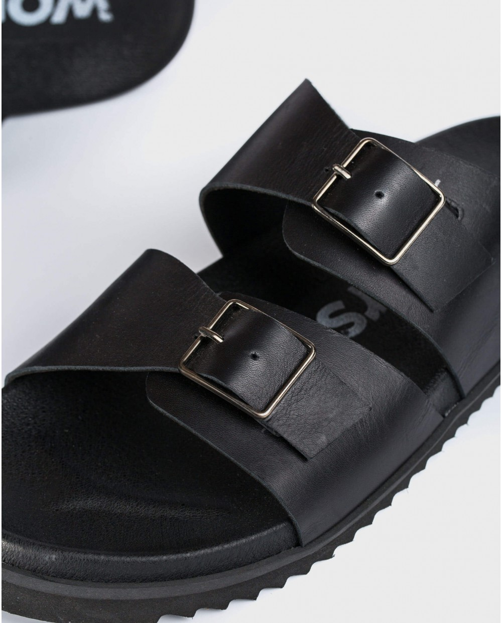 Wonders-Men Shoes-Leather sandal with buckles