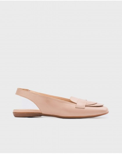 Wonders-Flat Shoes-Backless ballet pump with fringe detail