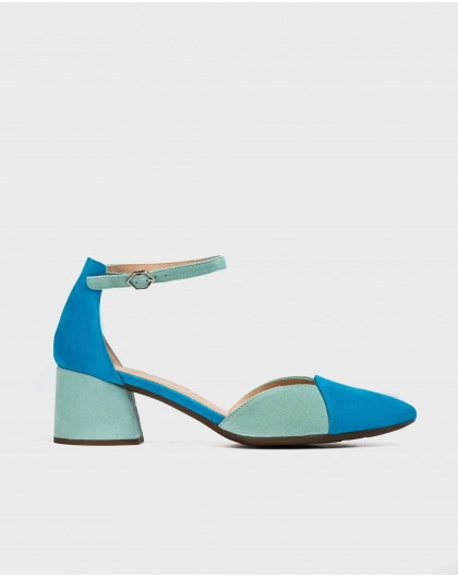 Wonders-Heels-Two-tone suede leather shoe