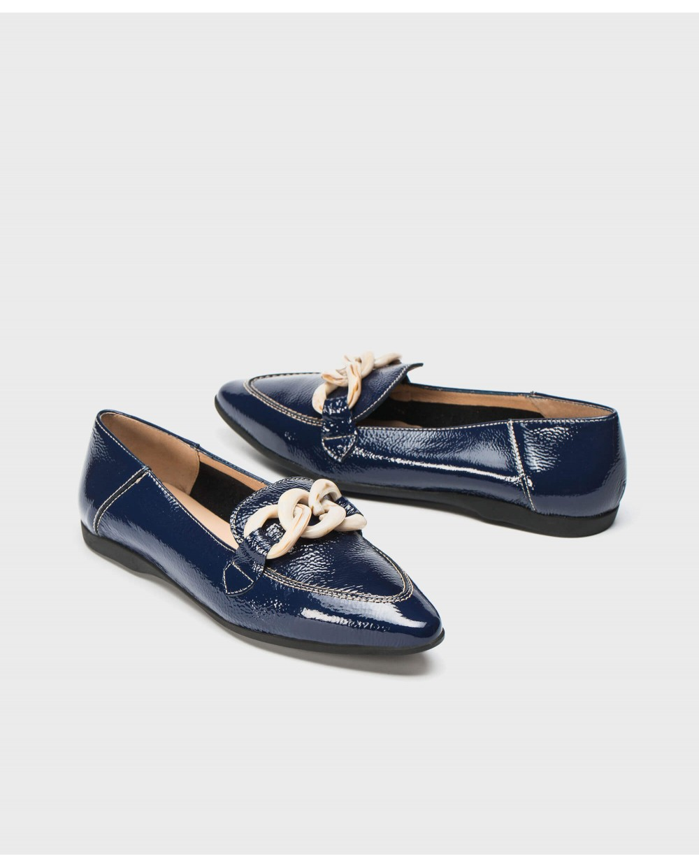 Wonders-Flat Shoes-Moccasin inspired ballet pump