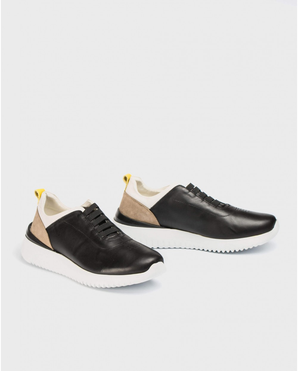 Wonders-Outlet-Leather sneakers with elastic