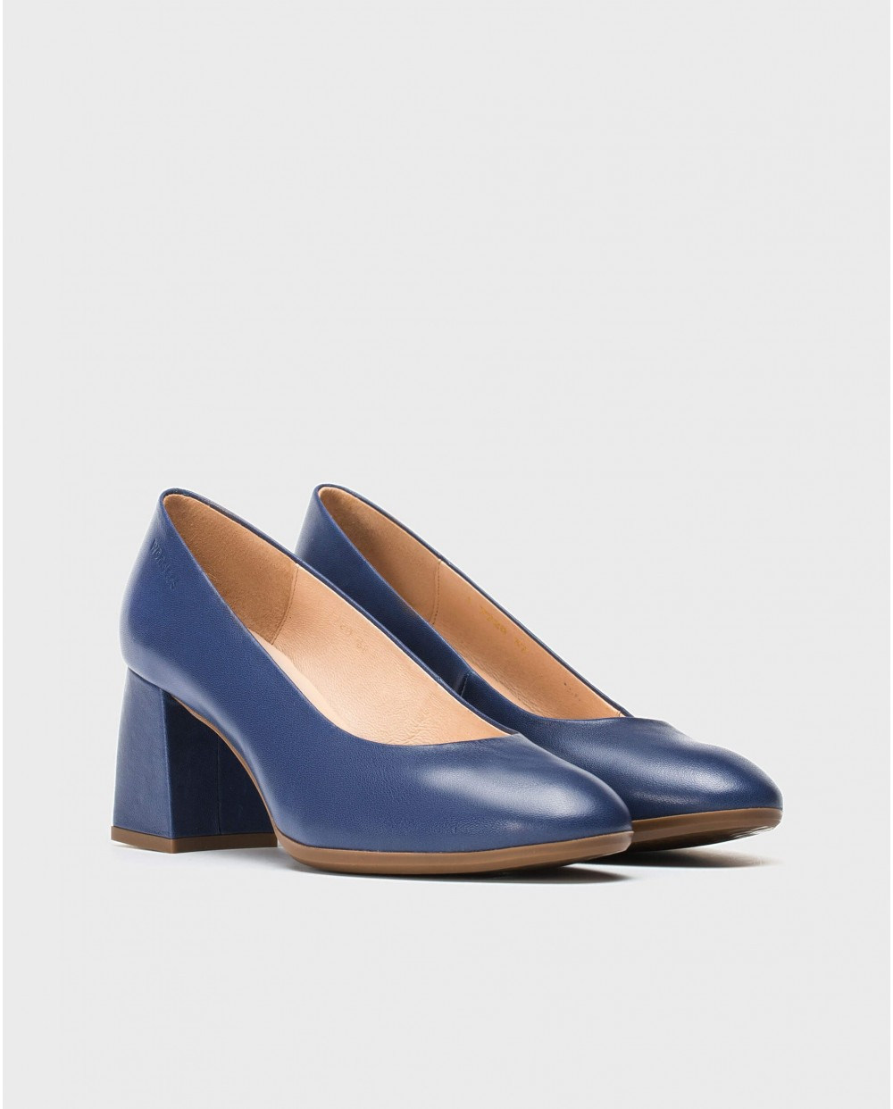Wonders-Heels-High heeled leather Court shoe