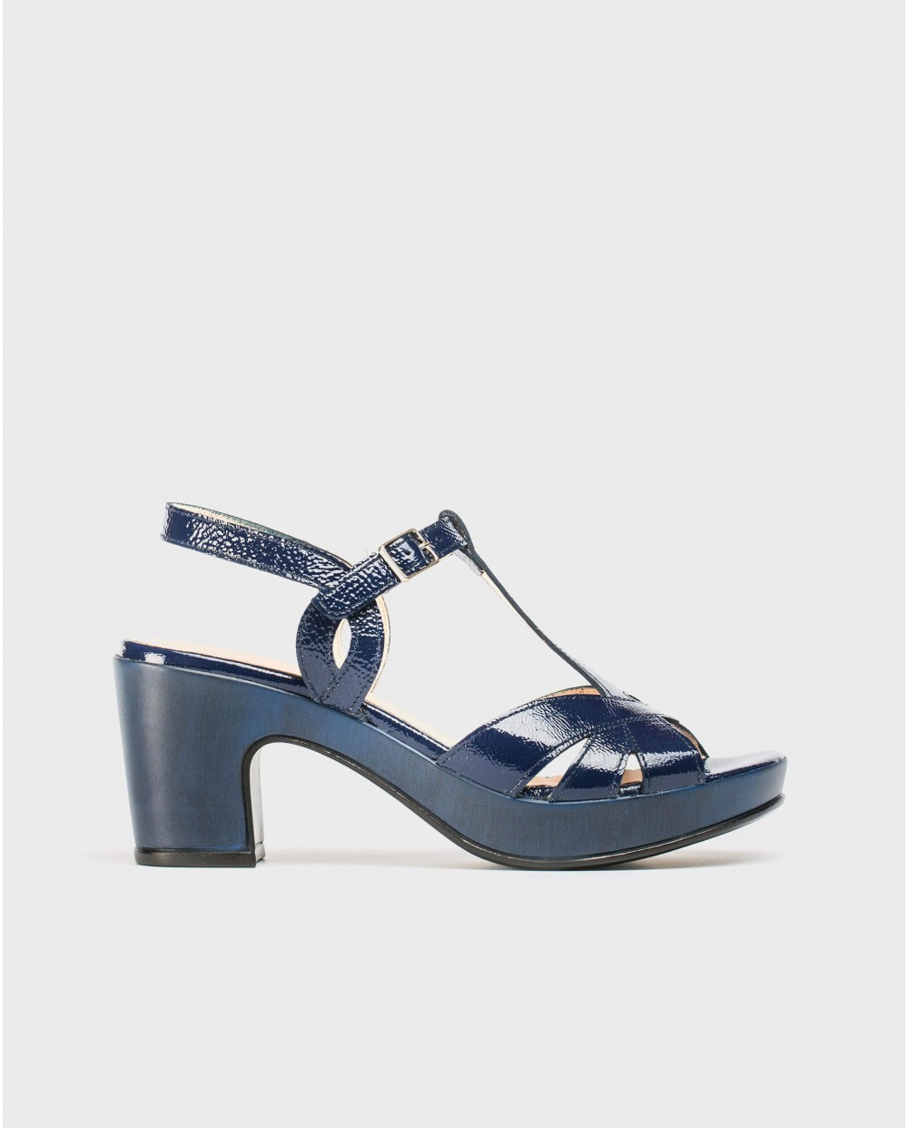 Wonders-Sandals-Platform sandal with straps