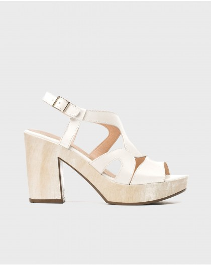 Wonders-Sandals-Platform sandal with wavy straps