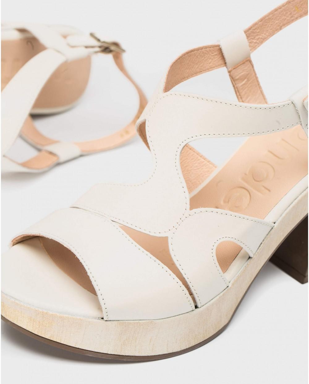 Wonders-Sandals-Platform sandal with wavy straps