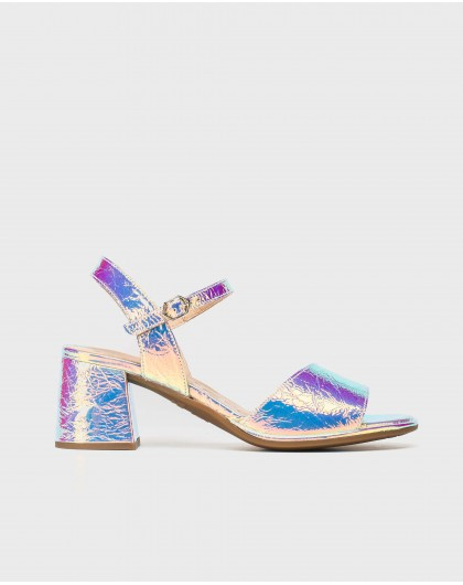 Wonders-Sandals-Laminated leather sandal