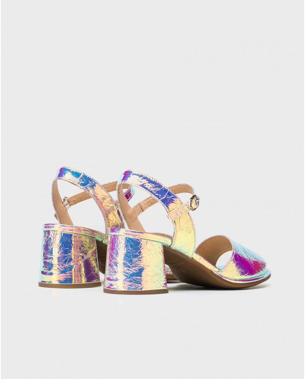 Wonders-Sandals-Laminated leather sandal