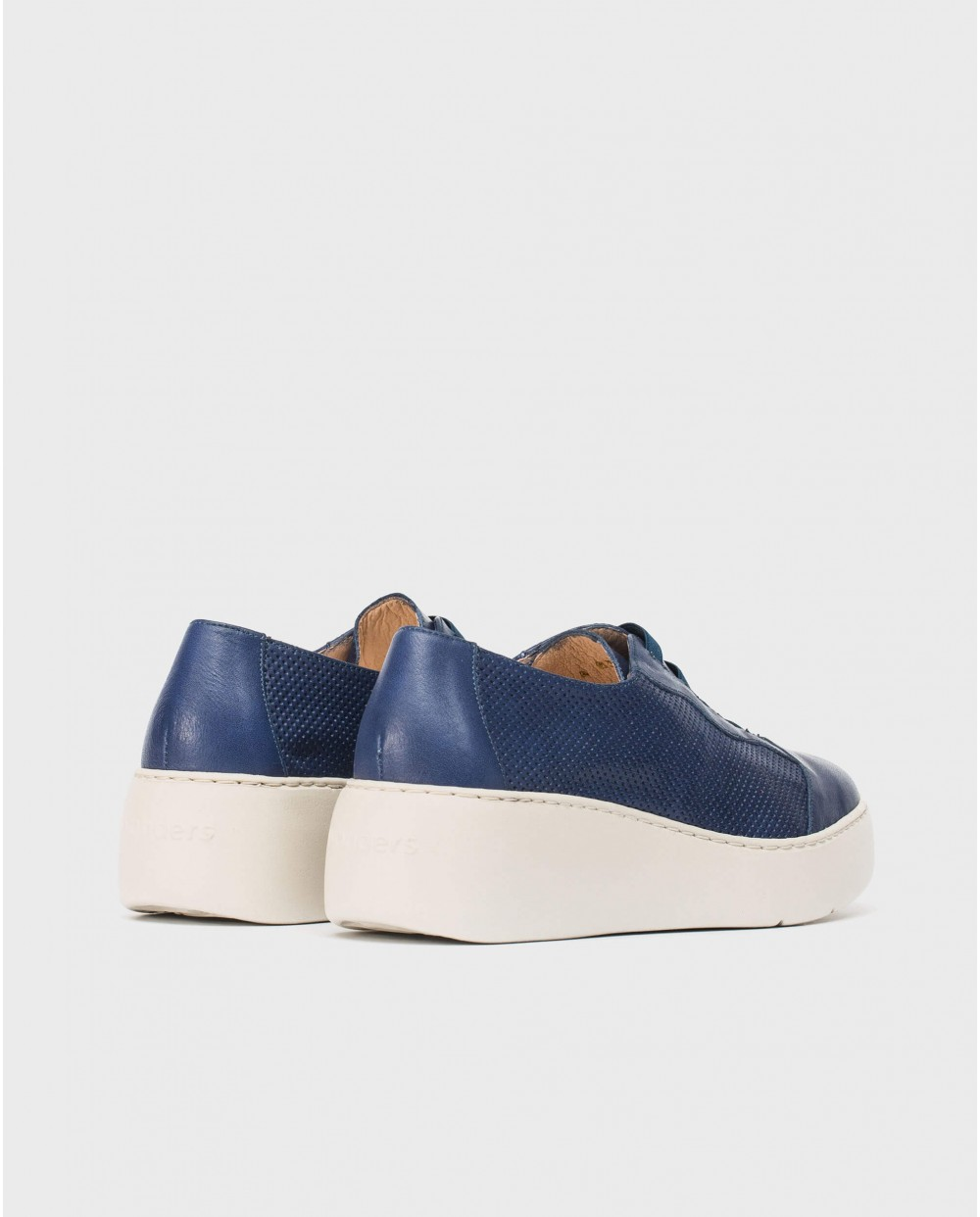 Wonders-Sneakers-Leather micro-perforated sneaker