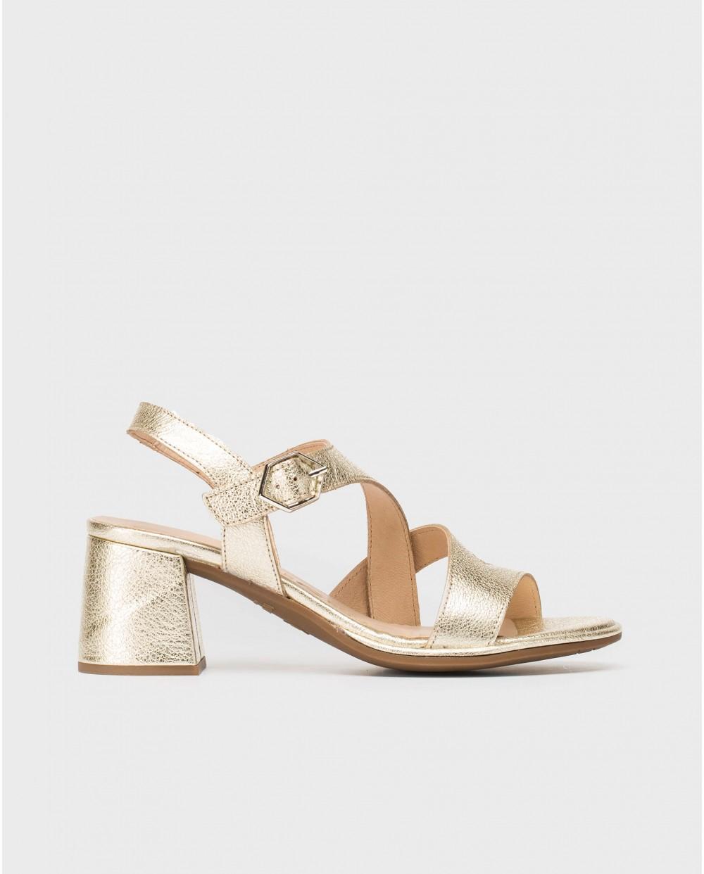Wonders-Sandals-Metallic leather sandal