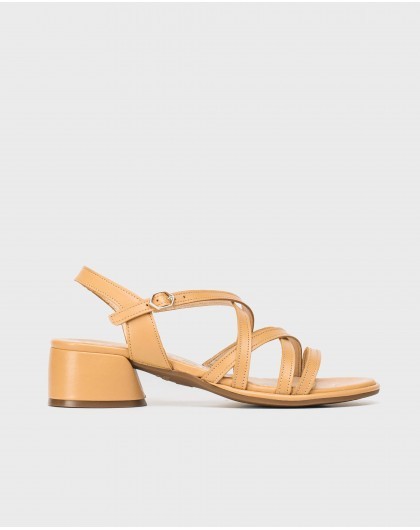 Wonders-Outlet-Flat sandal with leather straps