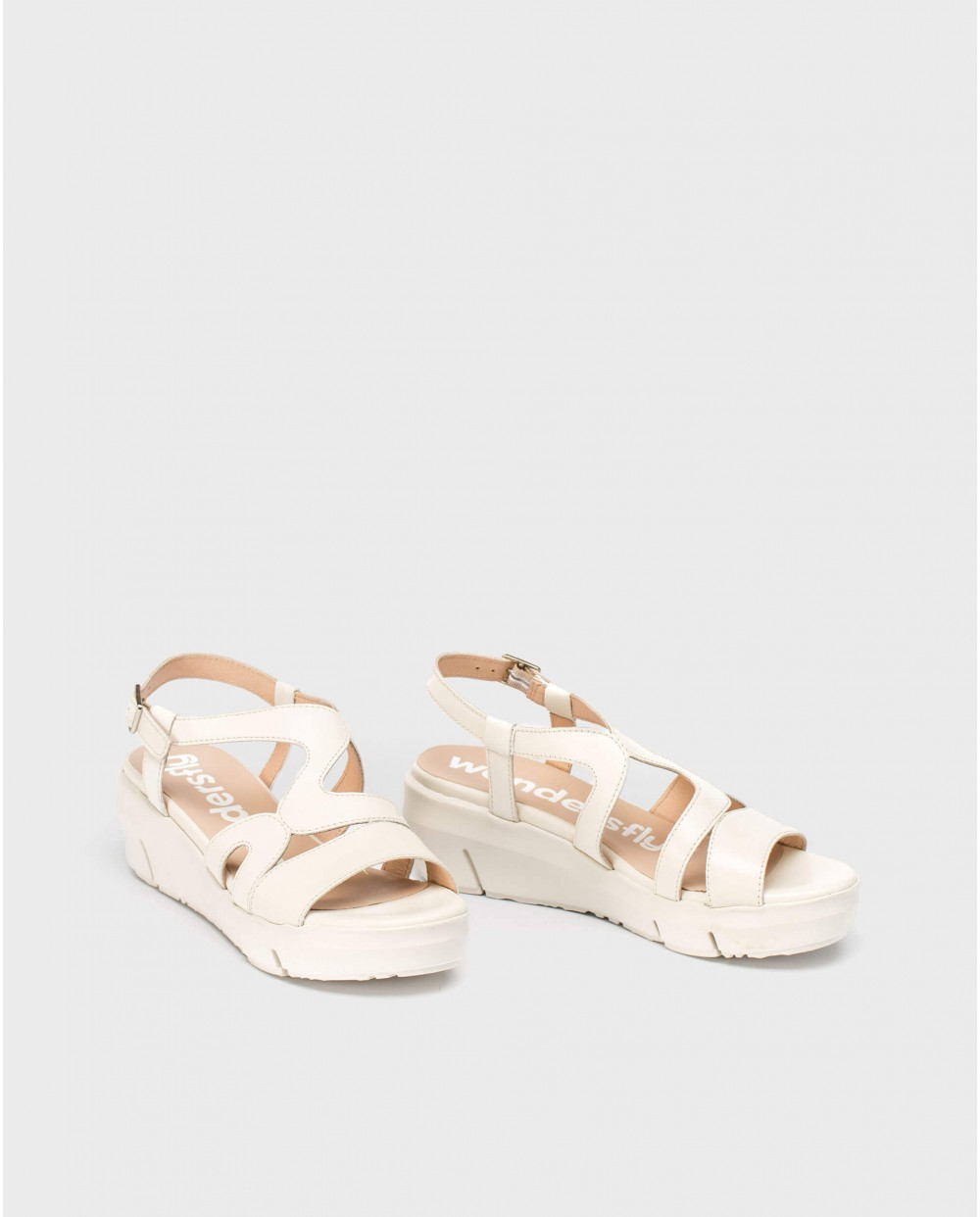 Wonders-Sandals-Leather strappy sandal