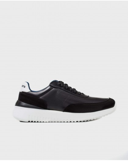 Wonders-Sneakers-Leather sneaker with elastic closure