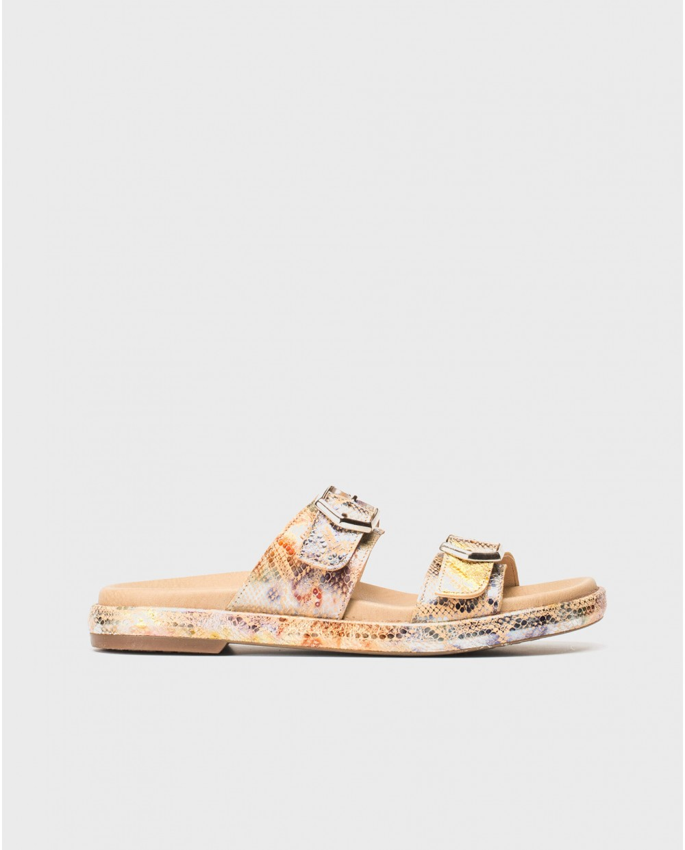 Wonders-Sandals-Flat sandal with buckles