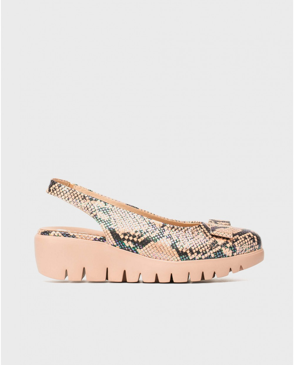 Wonders-Outlet-Backless moccasin with bow