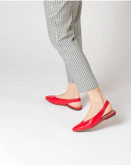 Wonders-Zapatos planos-Sandalia piel destalonada