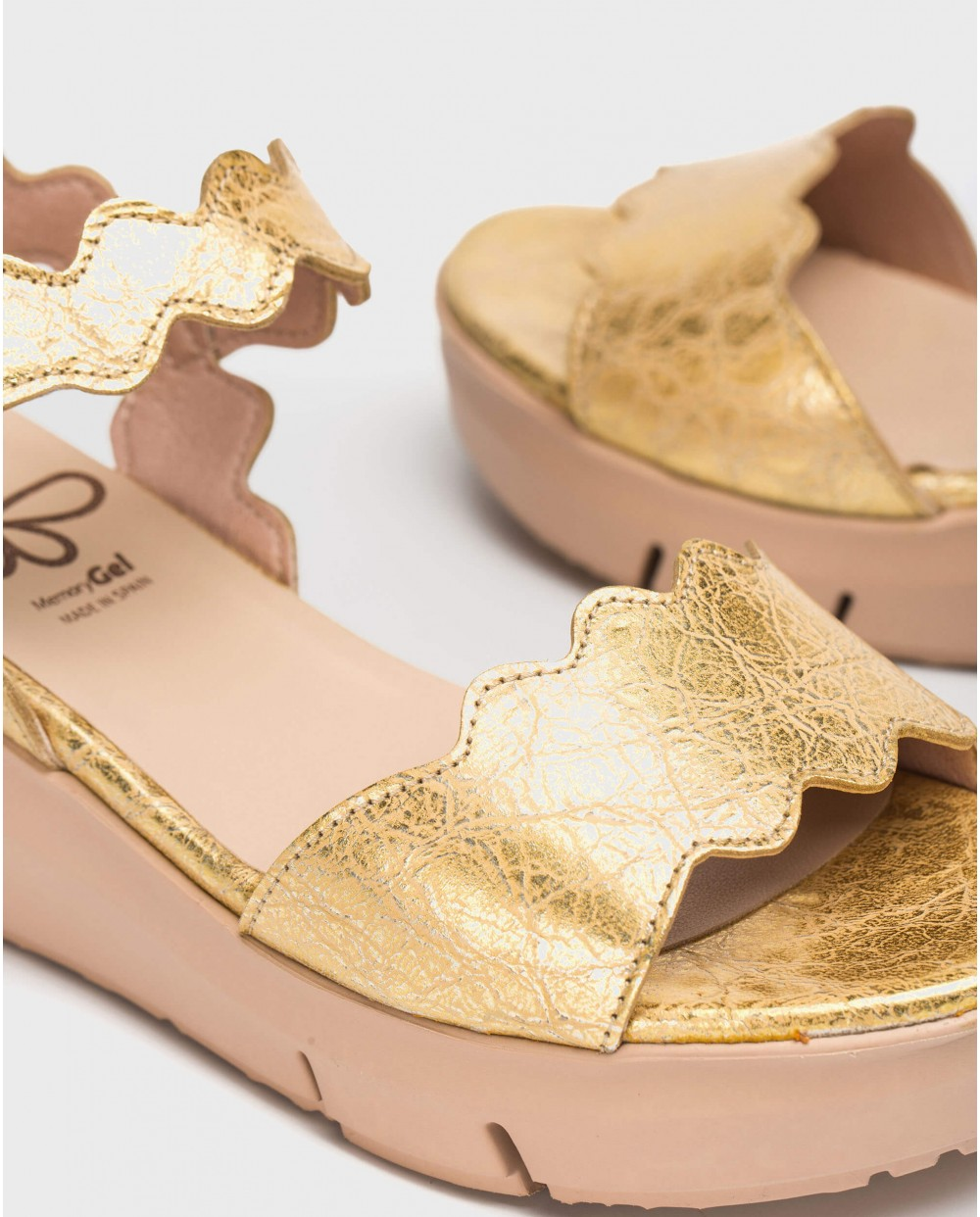 Wonders-Sandals-Fantasy leather sandal with zigzag