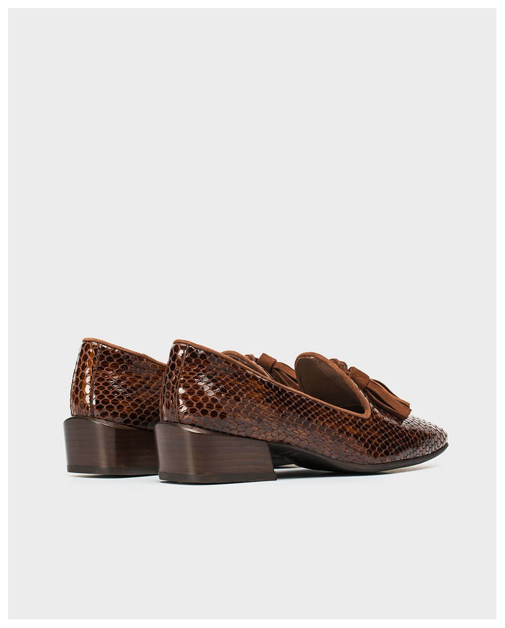 Wonders-Flat Shoes-Leather moccasin with tassels