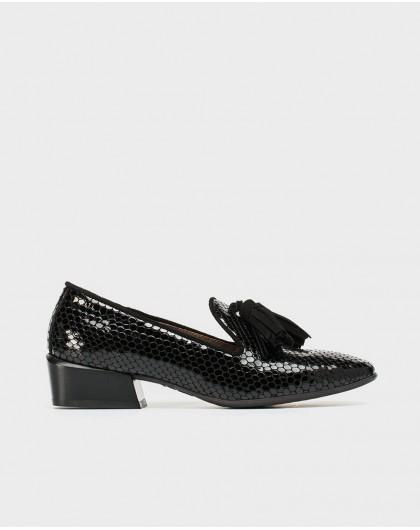 Wonders-Zapatos planos-Mocasín piel borlas