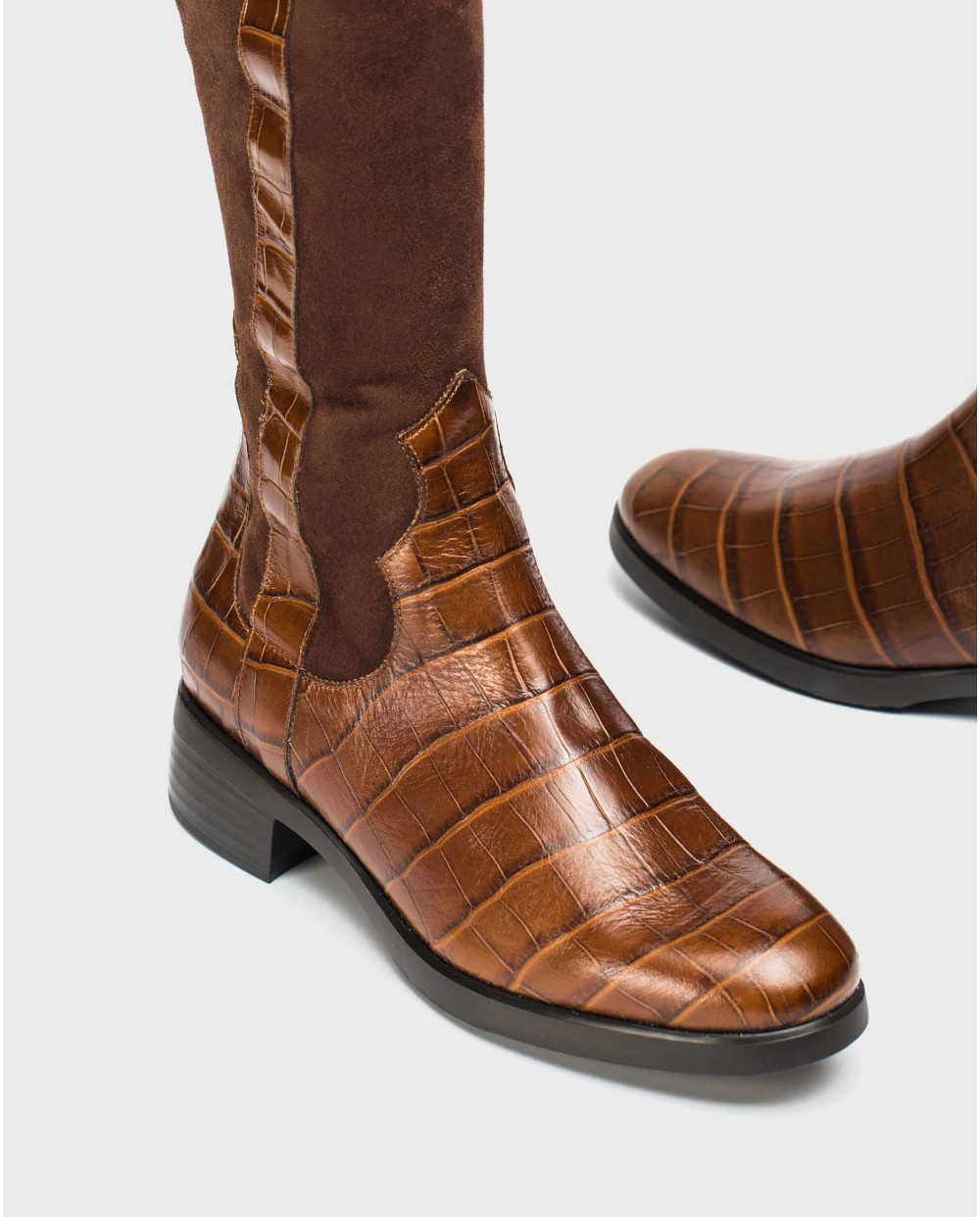 Wonders-Boots-Flat elastic boot