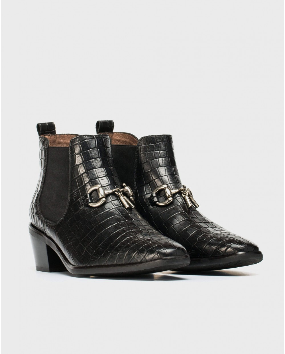 Wonders-Ankle Boots-Cowboy ankle boot with loop