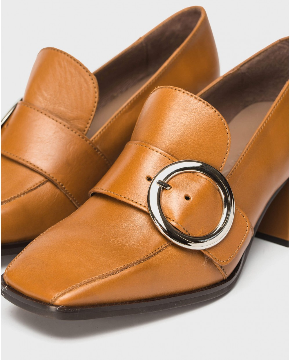 Wonders-Flat Shoes-High moccasin with buckle detail
