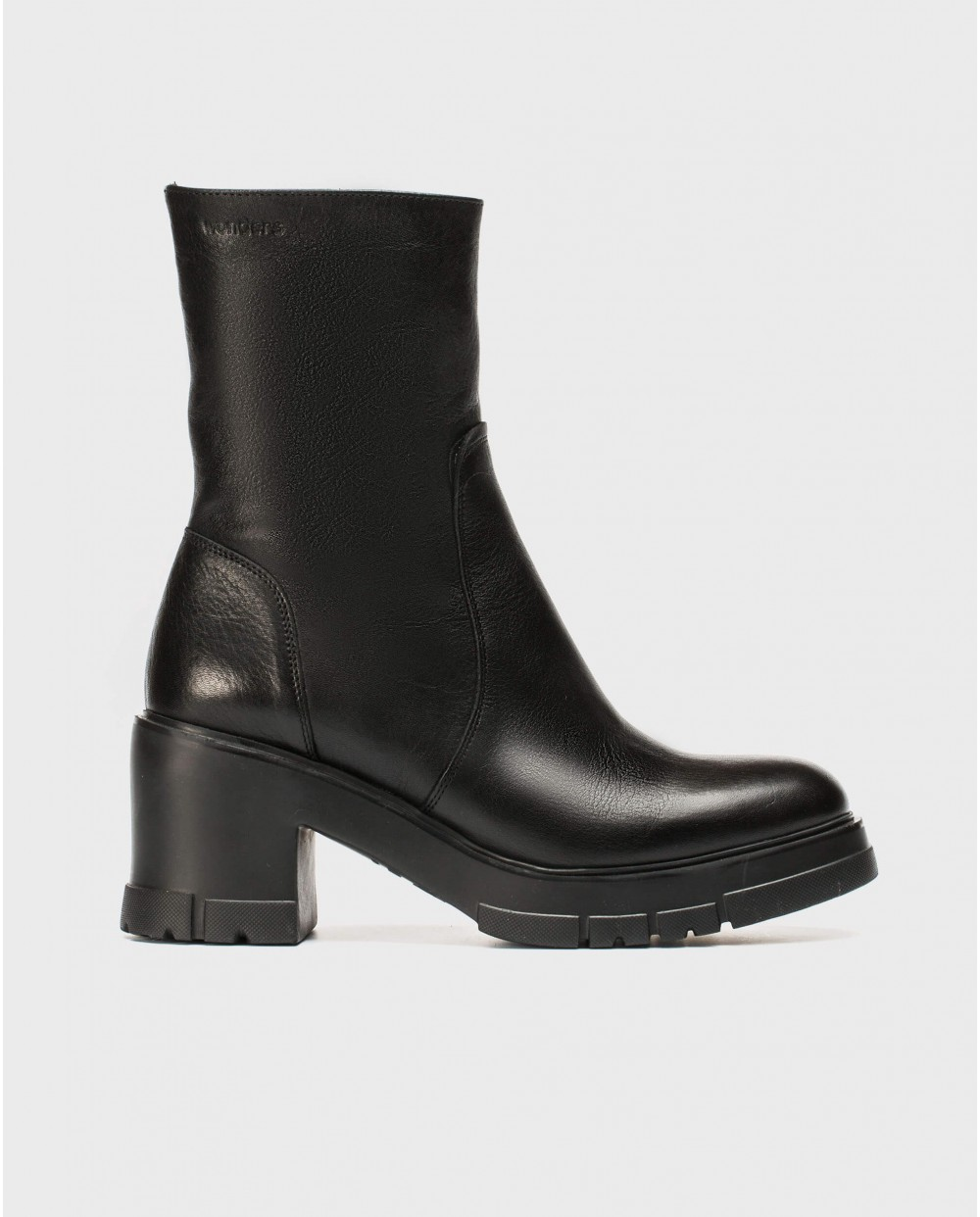 Wonders-Ankle Boots-Combat leather ankle boot