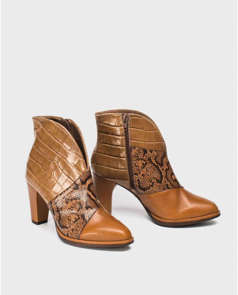 Wonders-Ankle Boots-Three-color ankle boot