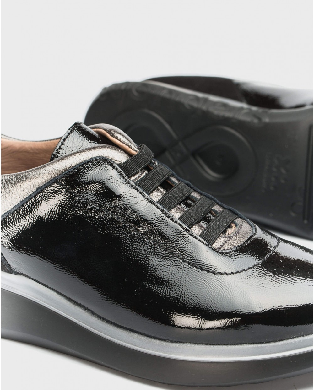Wonders-Flat Shoes-Shoes with elastic