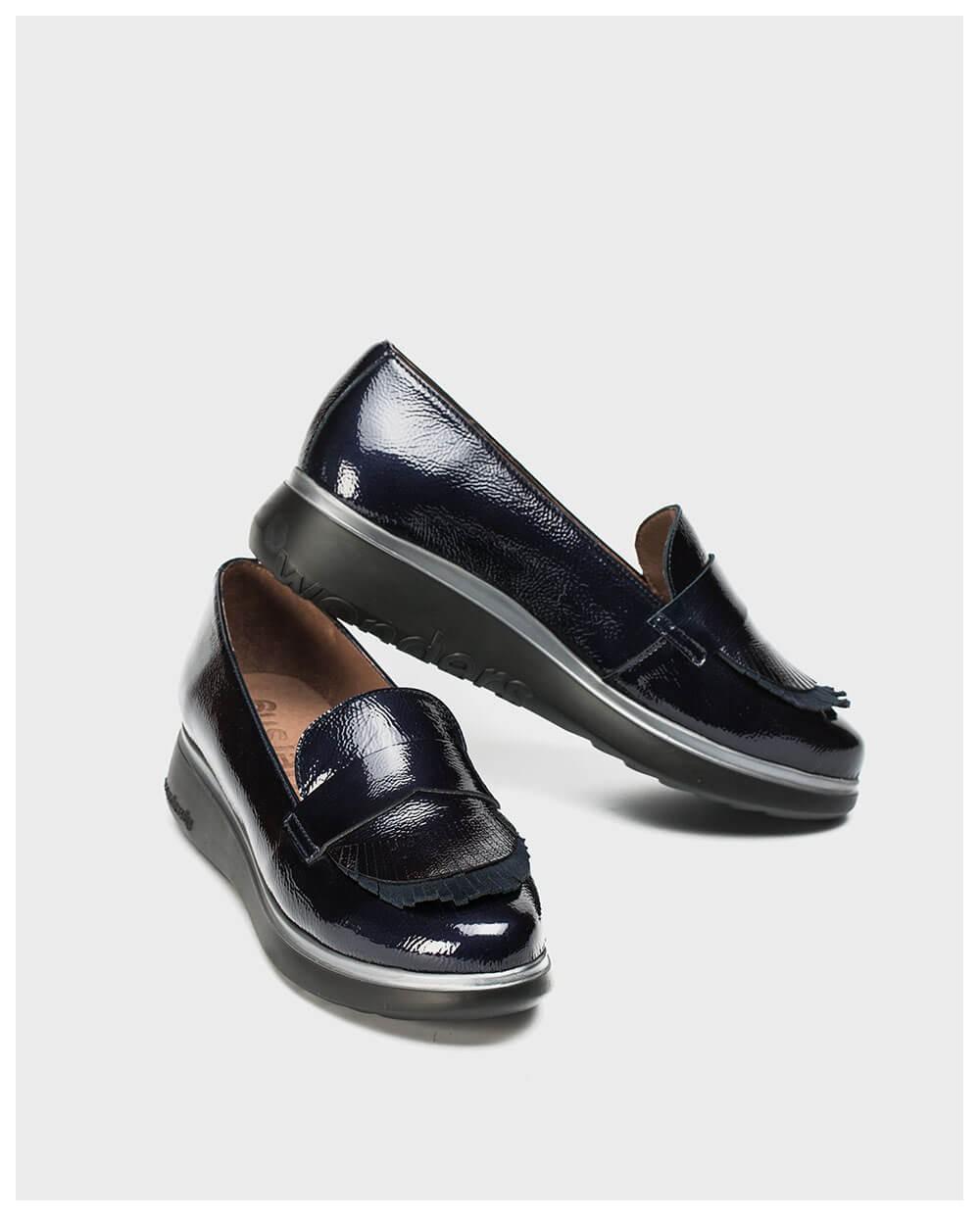 Wonders-Zapatos planos-Mocasín charol flecos