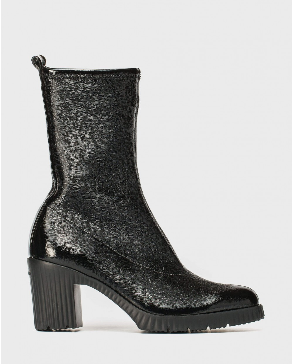 Wonders-Ankle Boots-Patent leather elastic ankle boot