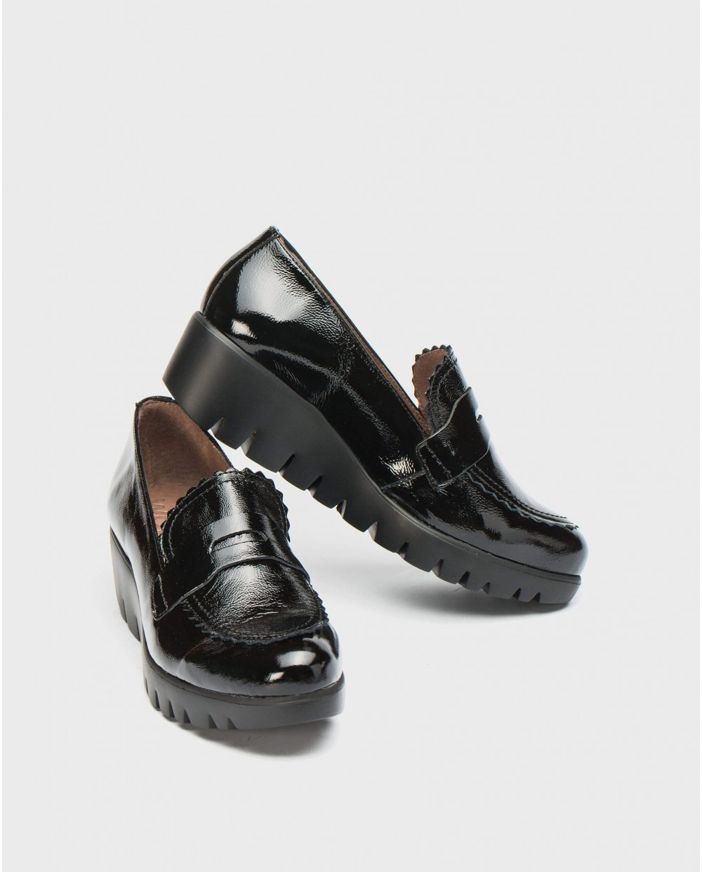 Wonders-Flat Shoes-Wedge shoe with flap