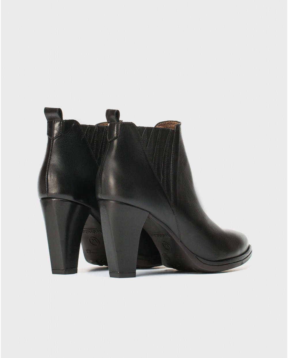 Wonders-Ankle Boots-High heeled ankle boot with V elastic