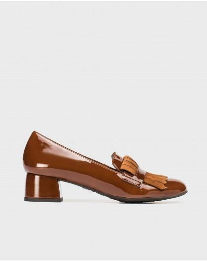 Wonders-Flat Shoes-Ballet pump with fringe detail