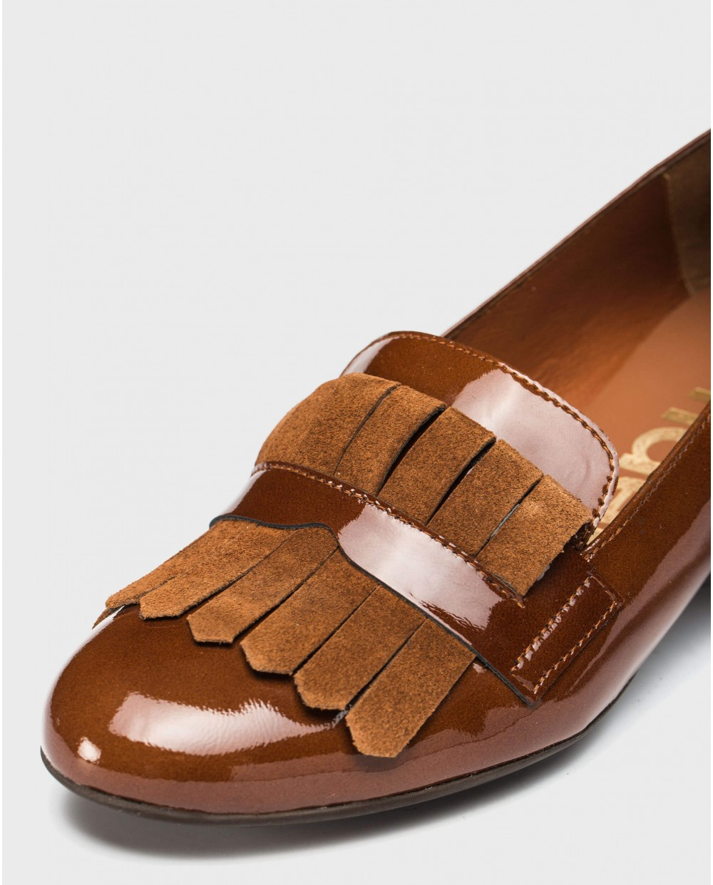 Wonders-Flat Shoes-Ballet pump with fringe detail