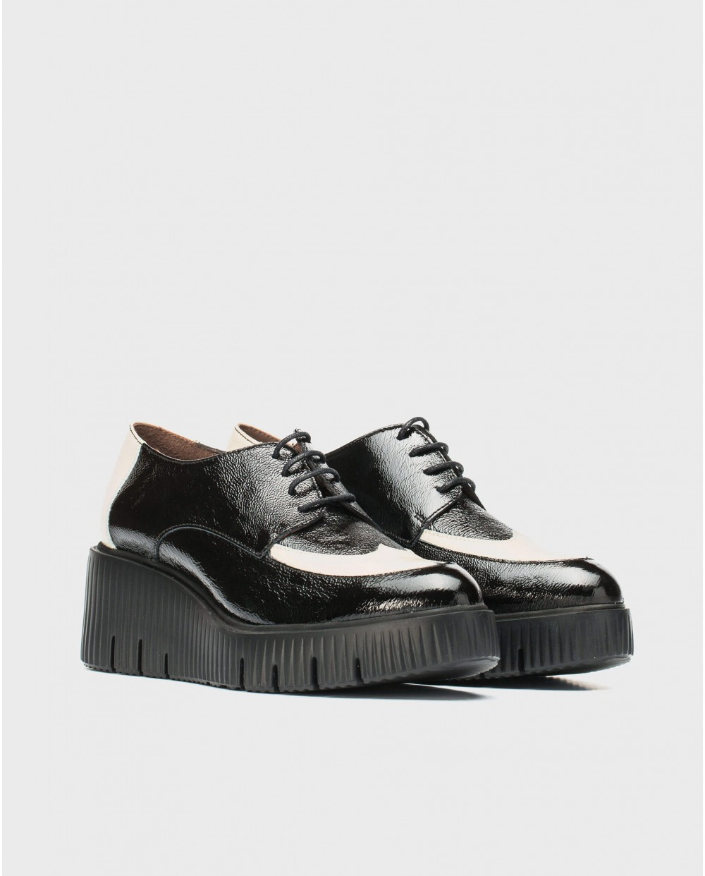Wonders-Wedges-Leather Blucher with laces