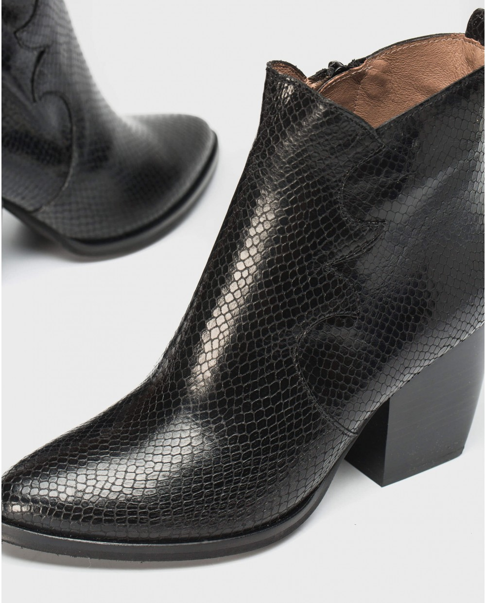 Wonders-Ankle Boots-Python Cowboy ankle boot
