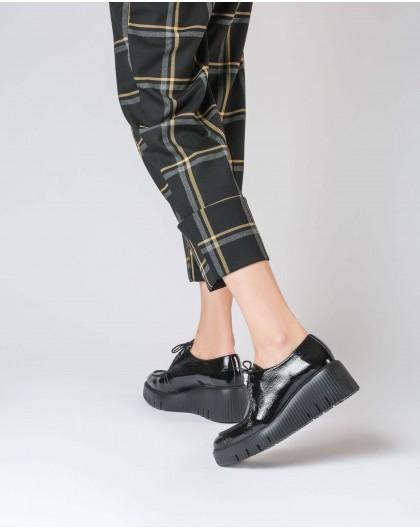Wonders-Wedges-Patent platform loafers