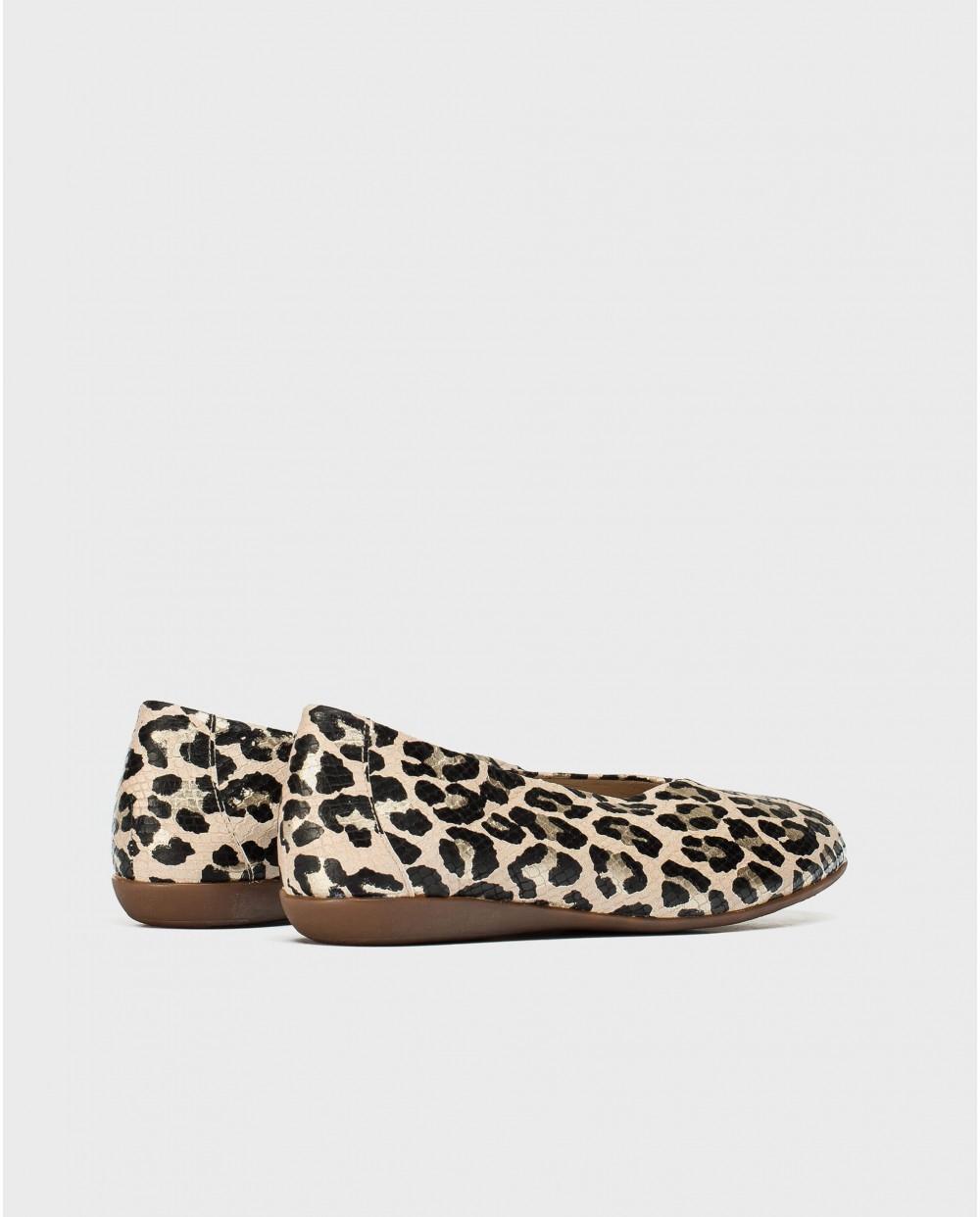 Wonders-Flat Shoes-High cut ballet pump