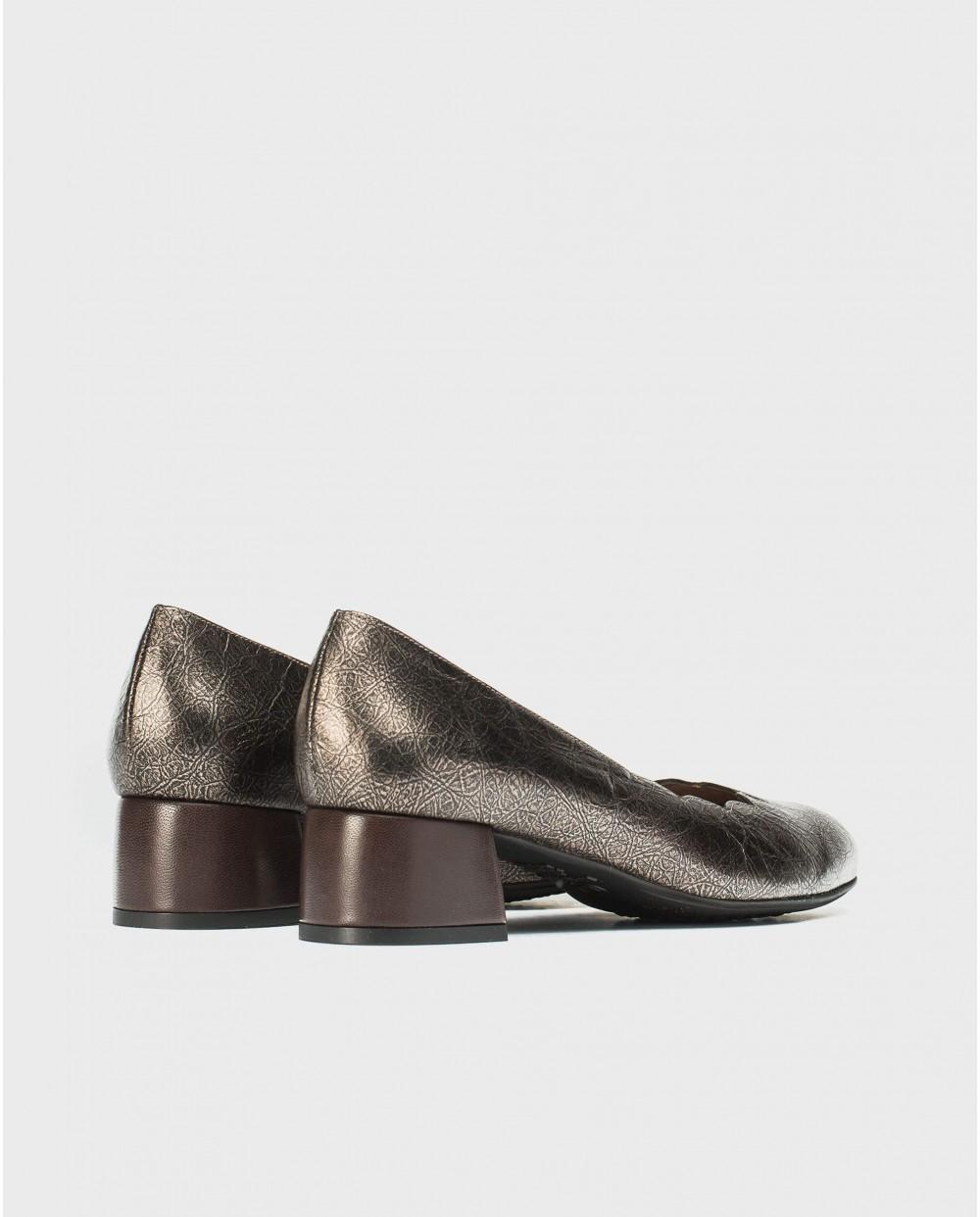 Wonders-Heels-High heeled ballet pump with waves