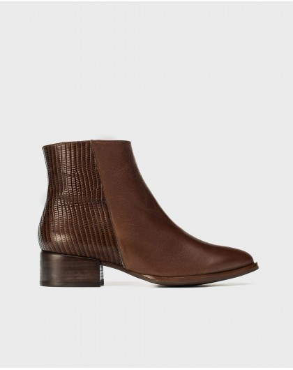 Wonders-Ankle Boots-Flat leather ankle boot