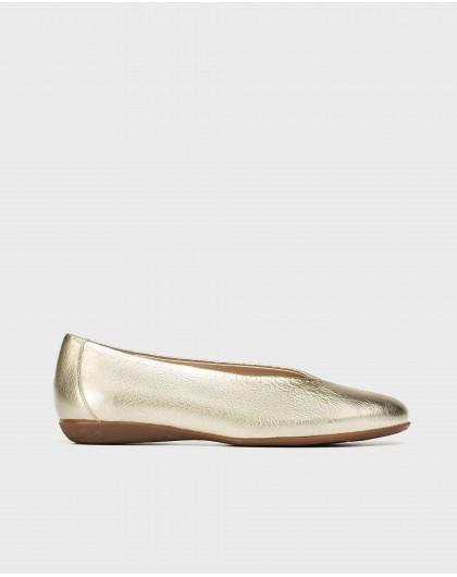 Wonders-Zapatos planos-Bailarina metalizada corte alto