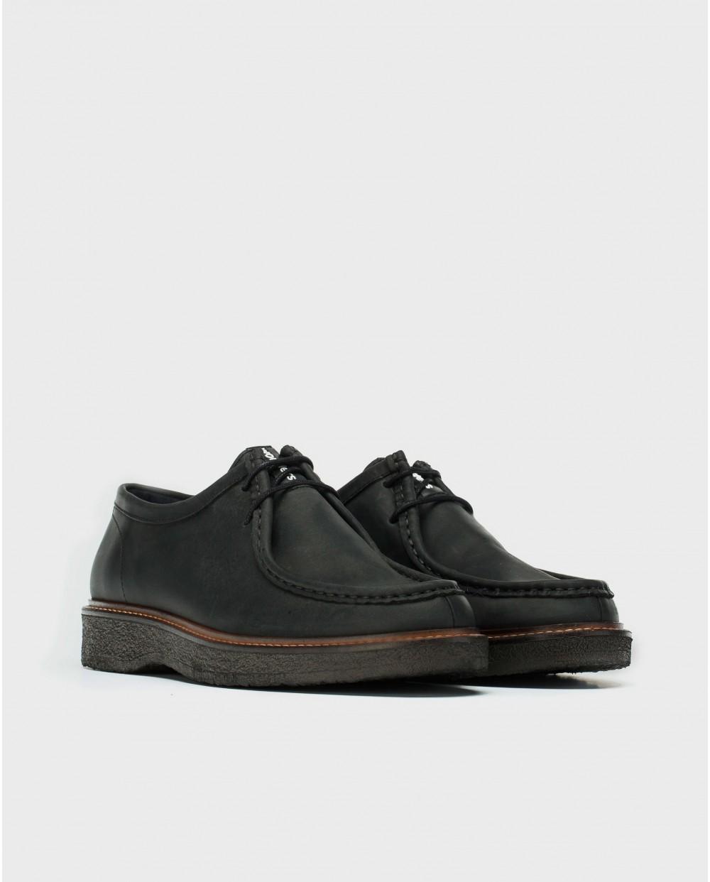 Wonders-Zapatos con cordones-Zapato piel Wallabee