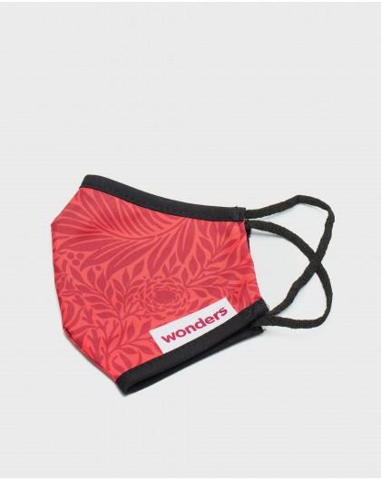 Wonders-Complementos-Mascarilla estampado rojo