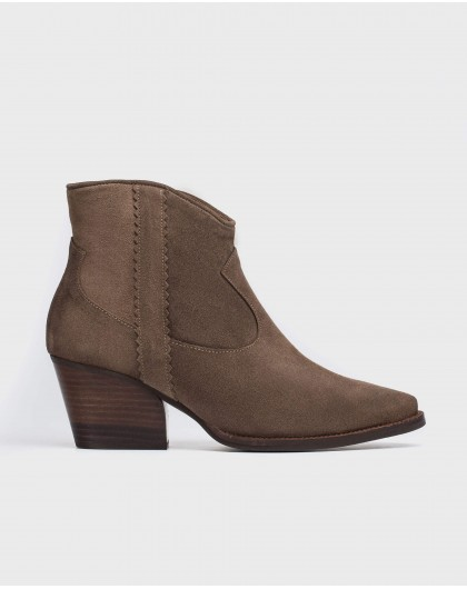 Wonders-Outlet-Leather cowboy ankle boot