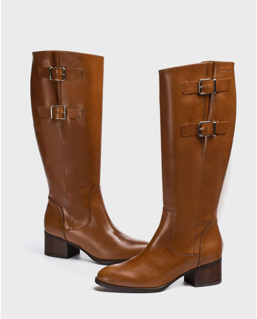 Wonders-Boots-Leather boot with a wider fit