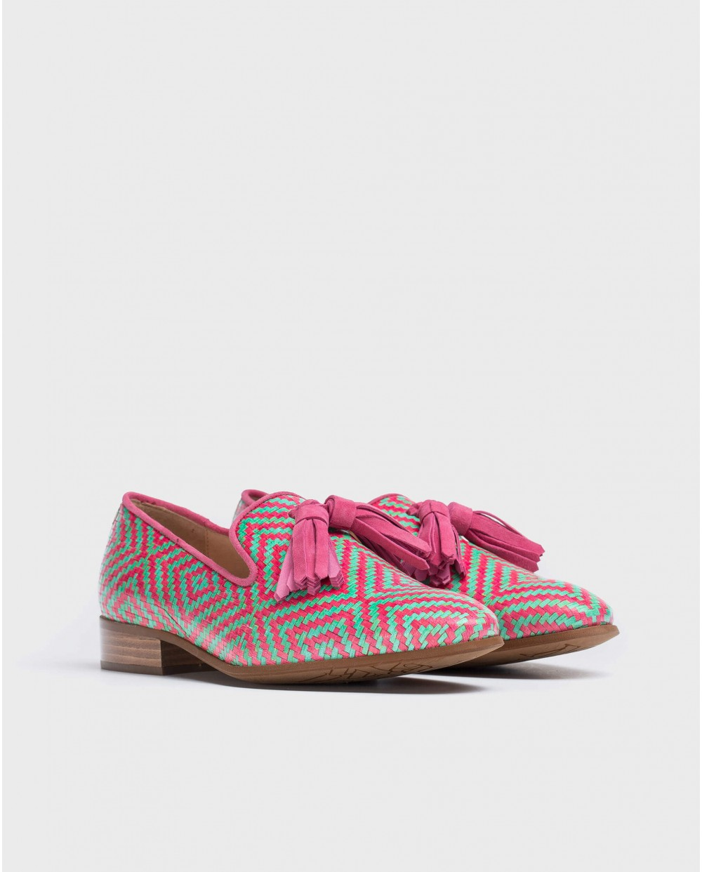 Wonders-Outlet-braided leather moccasin