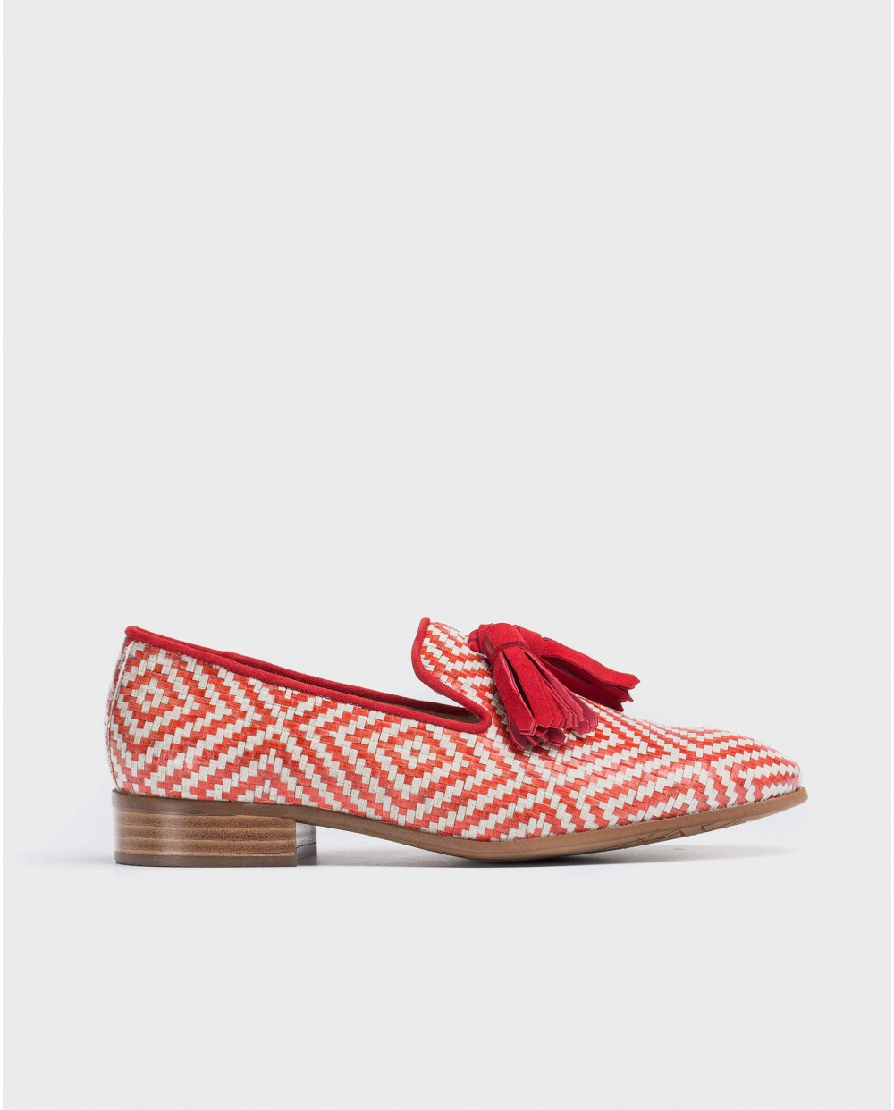 Wonders-Flat Shoes-braided leather moccasin