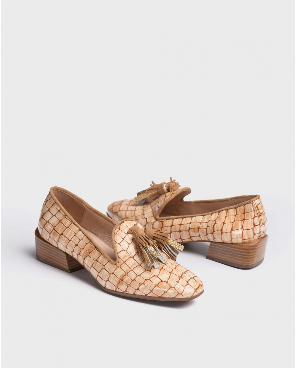 Wonders-Flat Shoes-Moccasin with leather tassels