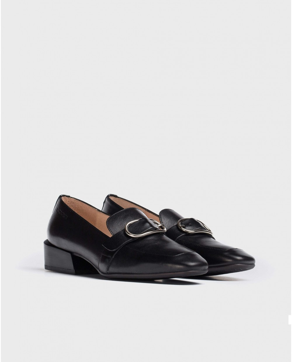 Wonders-Flat Shoes-Moccasin with buckle